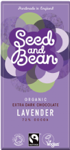 Seed & Bean Organic Lavender Dark Chocolate 85g